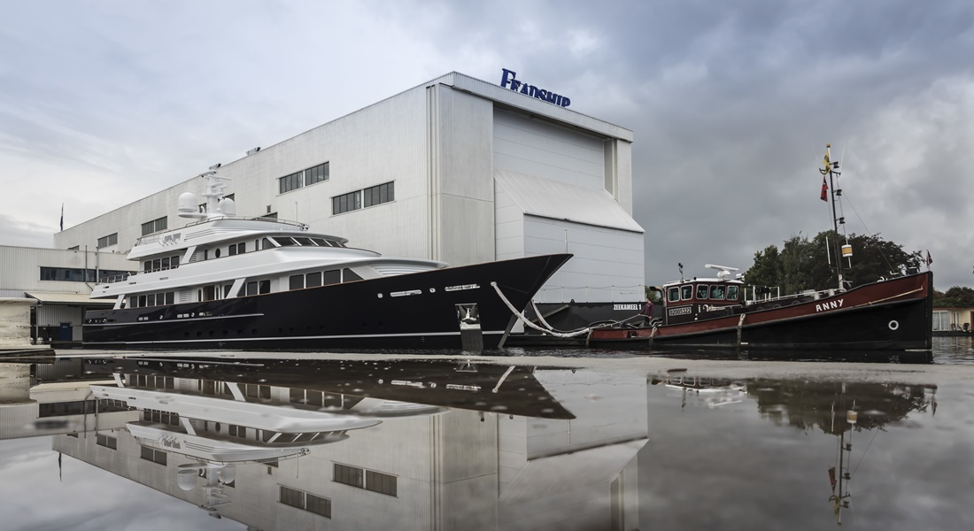 Feadship Fetes Project 697 at Christening