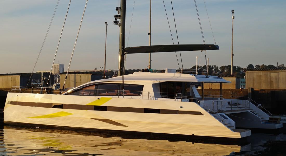 Long Island 85 sailing catamaran hull 2 JFA Yachts megayacht