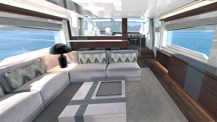 Pearl 80 Pearl Yachts megayacht rendering