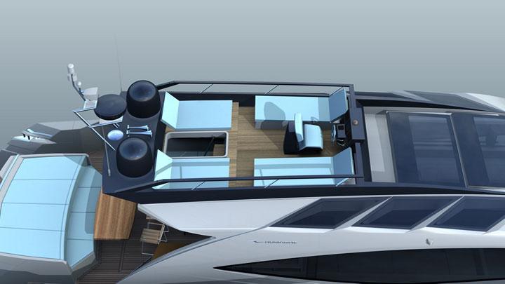 Numarine 78HTS flying bridge megayacht