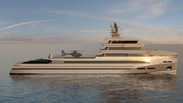 Rosetti 85M expedition supply vessel megayacht Rosetti Superyachts