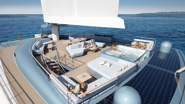 Wingyacht Evidence sailing superyacht catamaran VPLP