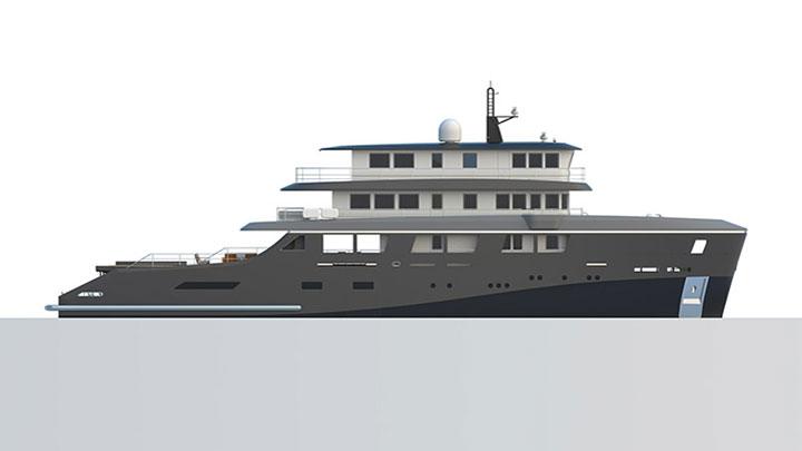 Floating Life K Series Superyachts K42 rendering