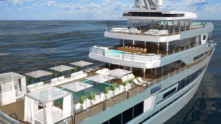 Gill Schmid Design Mystique megayacht concept for Dorries Yachts