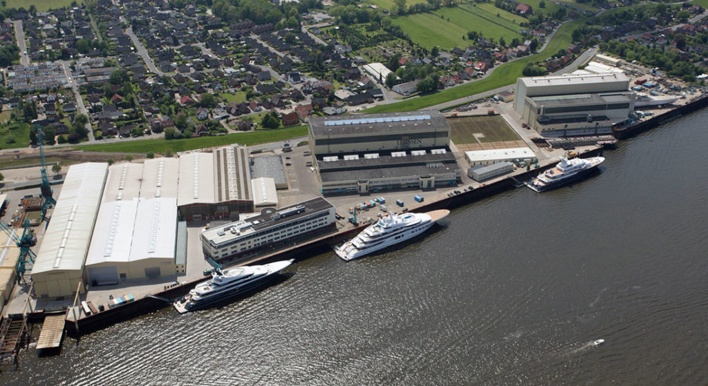 Lurssen shipyard in lemwerder general photo for Project Lightning story