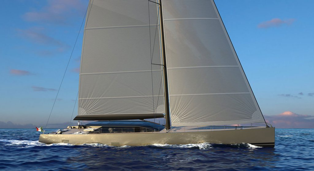 Perini Navi E-volution sailing superyacht hybrid
