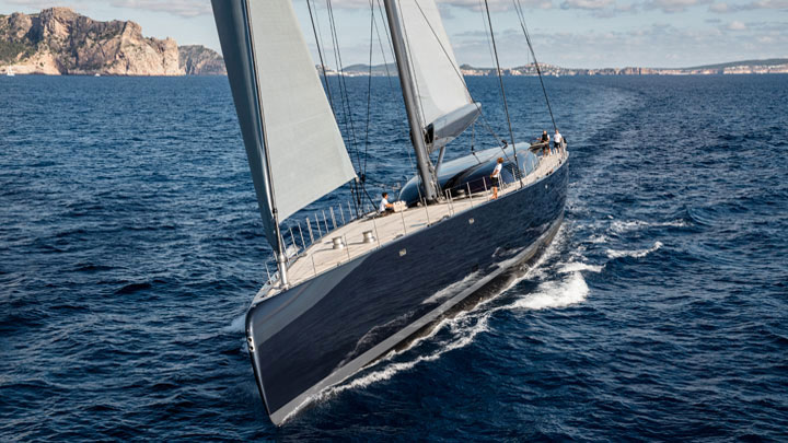 Ngoni sailing superyacht Royal Huisman International Superyacht Society Awards of Distinction finalist