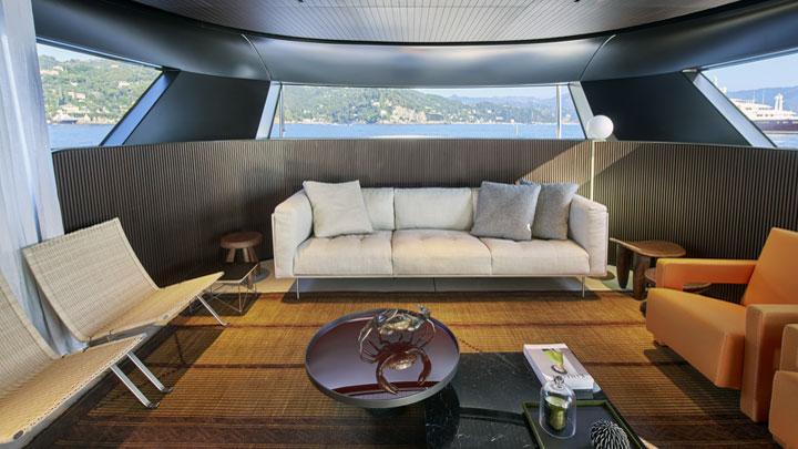 Sanlorenzo SX88  megayacht forwrard relax area