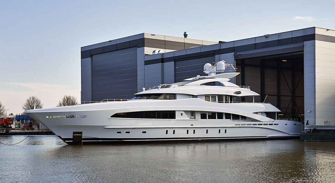 White megayacht Heesen Yachts ex Project Ayla