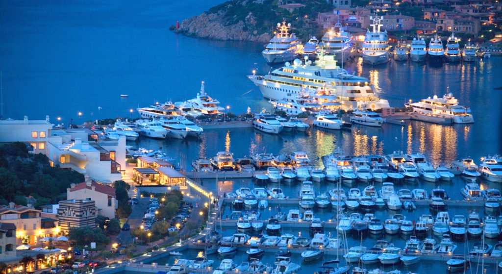 Marina di Porto Cervo most expensive megayachts in Europe