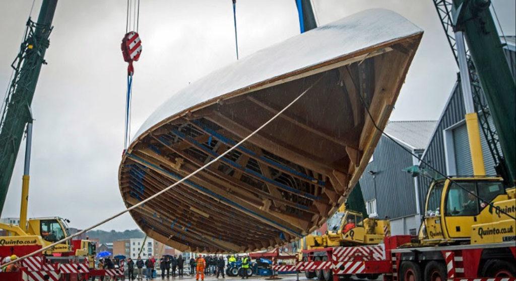 Spirit 111 megayacht hull rollover