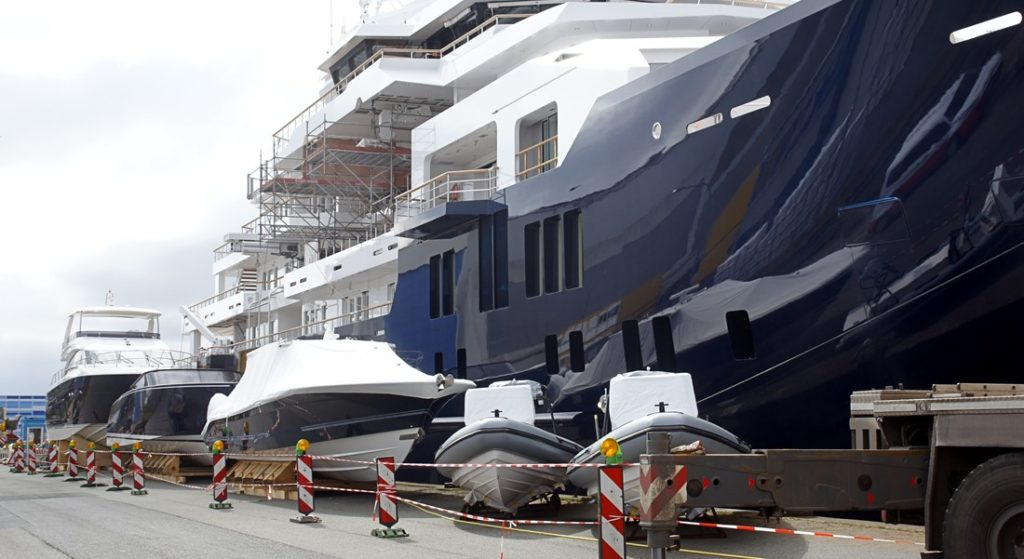superyacht Kleven U116 amazing armada of toys