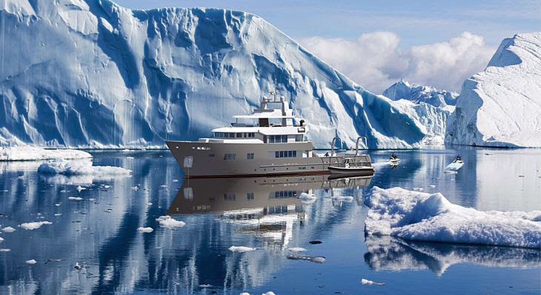 Ocea 125XP megayacht ice classed