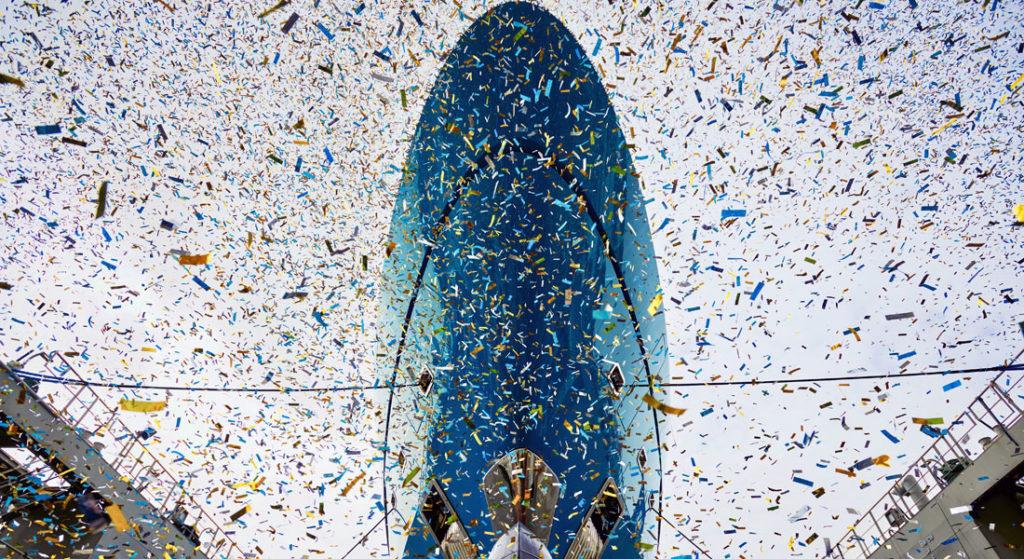 Turquoise Yachts Go megayacht launch