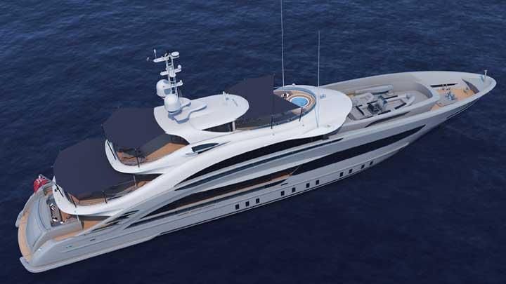 Heesen Yachts Omaha megayacht rendering
