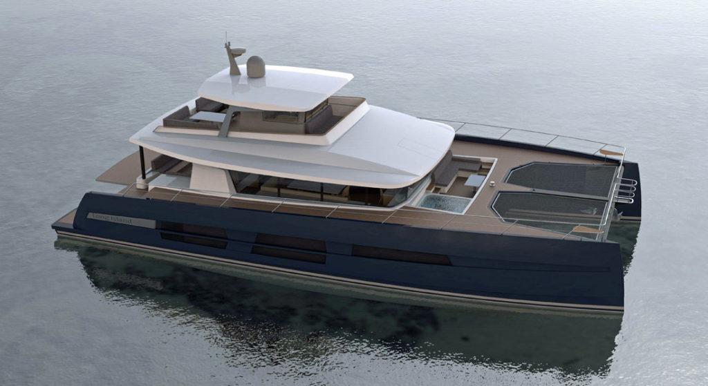 JFA Yachts Long Island Power catamaran megayacht