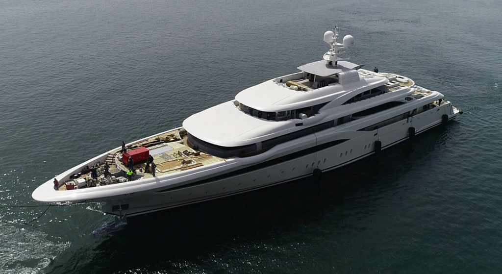 Golden Yachts O'Ptasia megayacht launch