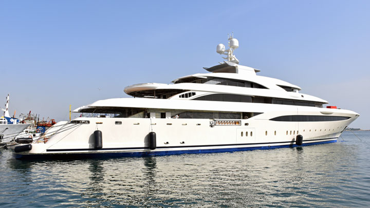 Golden Yachts O'Ptasia megayacht launch
