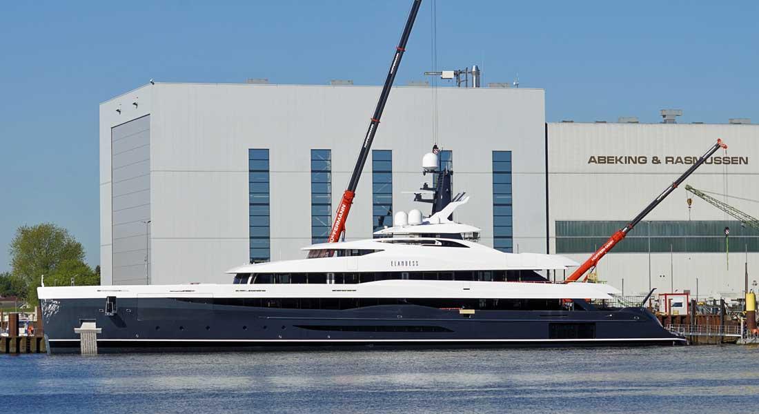 Elandess Abeking Rasmussen megayacht hull 6502