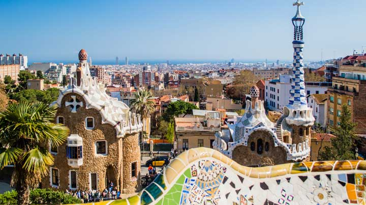 Park Guell Barcelona megayacht yachting hub