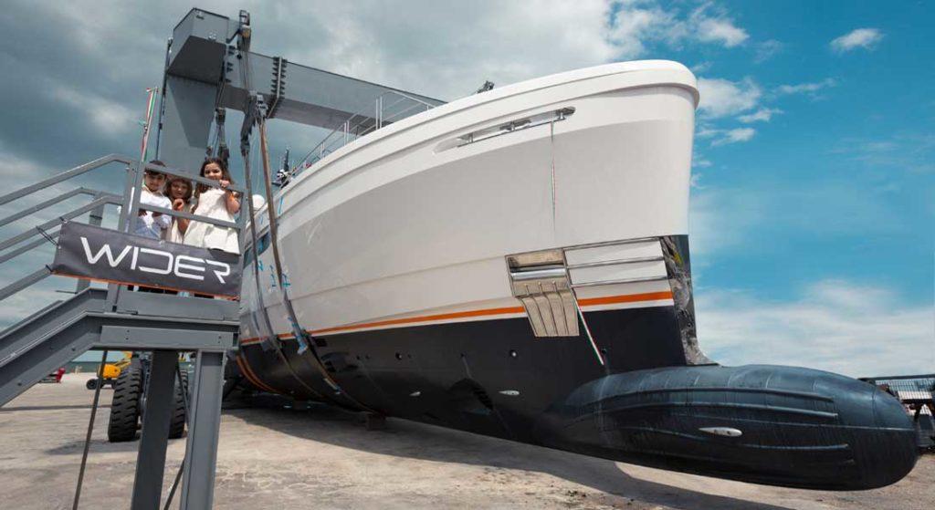 Wider 164 superyacht Cecilia launch