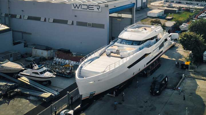 Wider 164 superyacht Cecilia launch