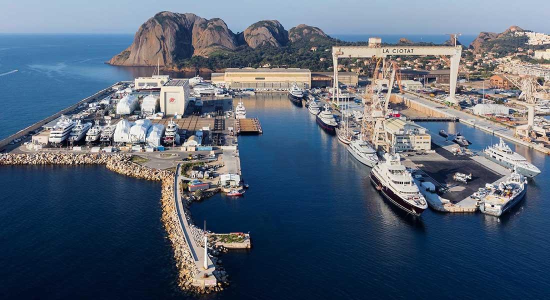 Monaco Marine megayacht refit La Ciotat yard
