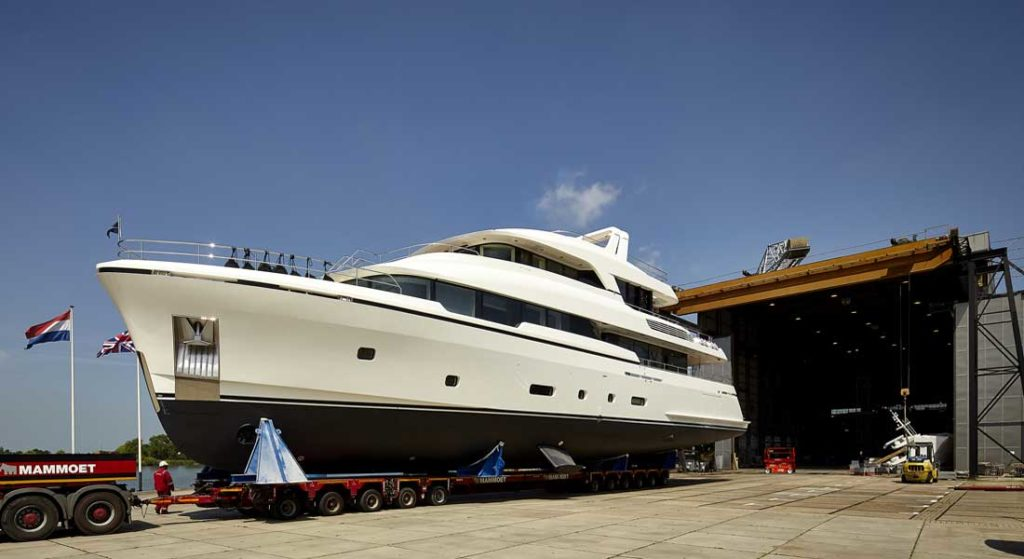 Moonen Martinique megayacht Brigadoon launch small superyacht premieres