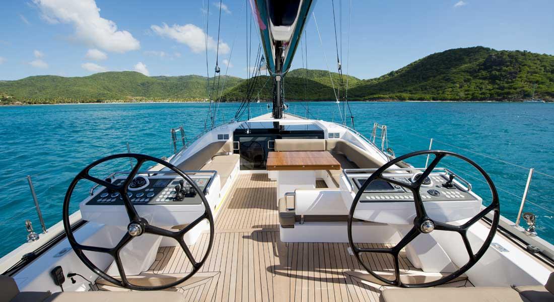 Oyster 885 superyacht owner Eddie Jordan