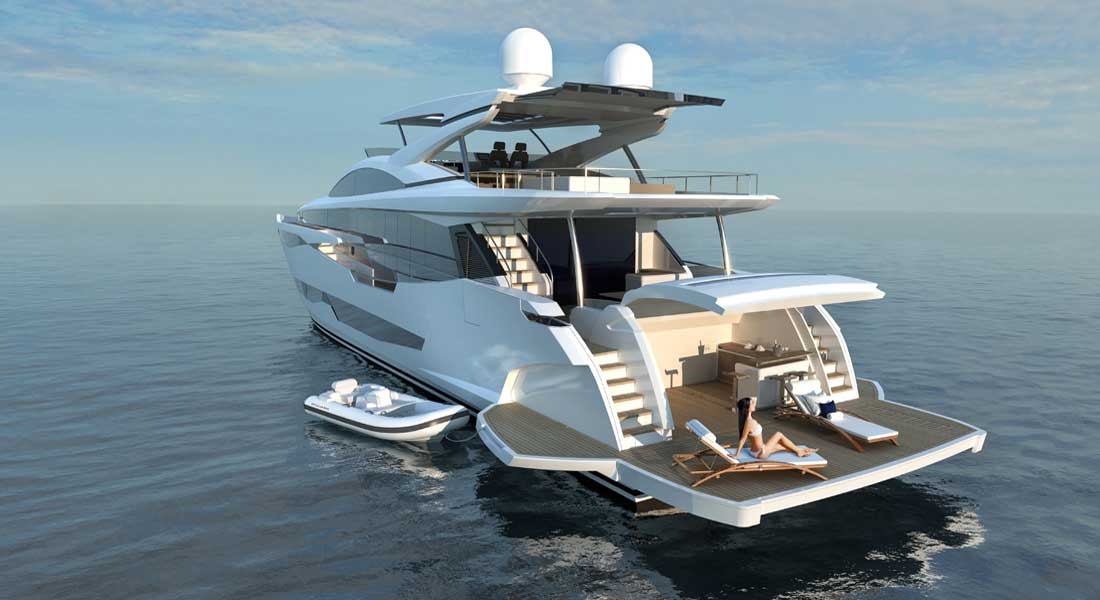 Pearl 95 superyacht