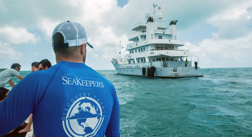 megayacht Marcato participates in the International SeaKeepers Society Discovery Yachts program; another SeaKeepers donor is matching contributions to help the organization