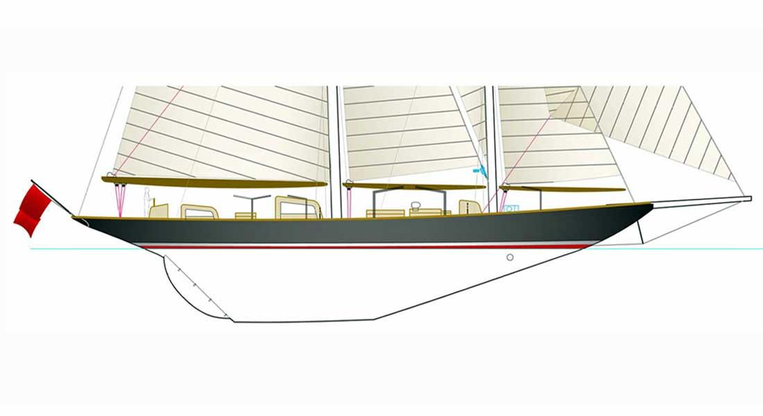 Vagrant sailing superyacht Herreshoff