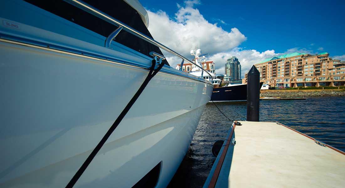 Victoria International Marina megayacht