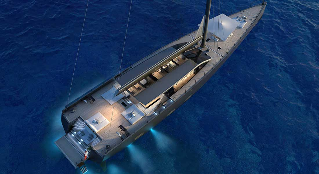 Perini Navi 42-metere E-volution sailing superyacht