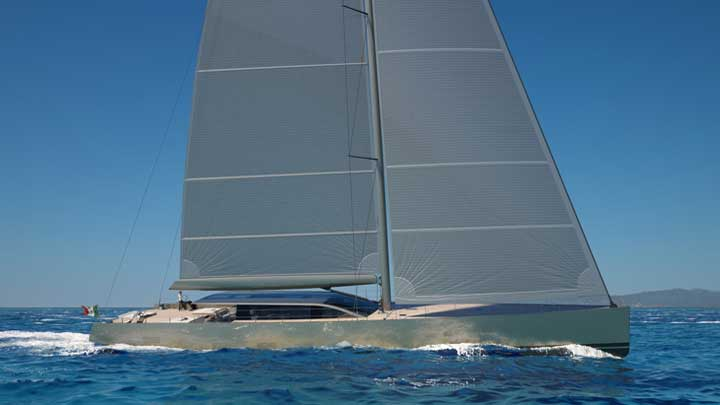 Perini Navi 42-metere E-volution sailing superyacht