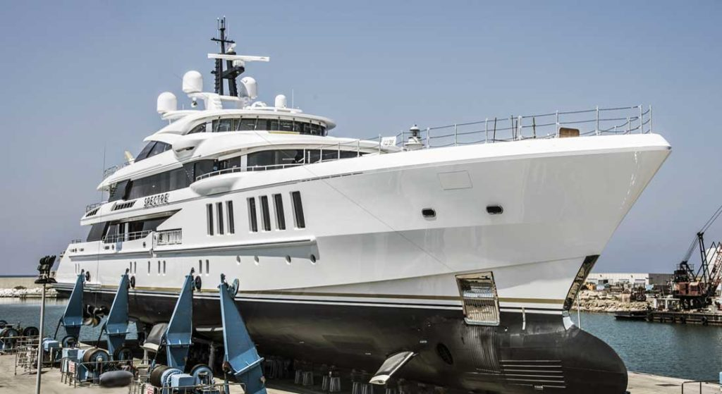 superyacht Spectre Benetti launch