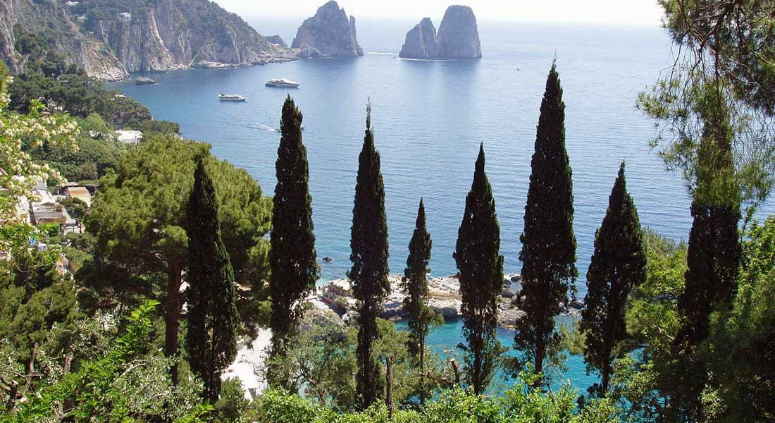 Capri Italy where Volpini 2 superyacht cruised