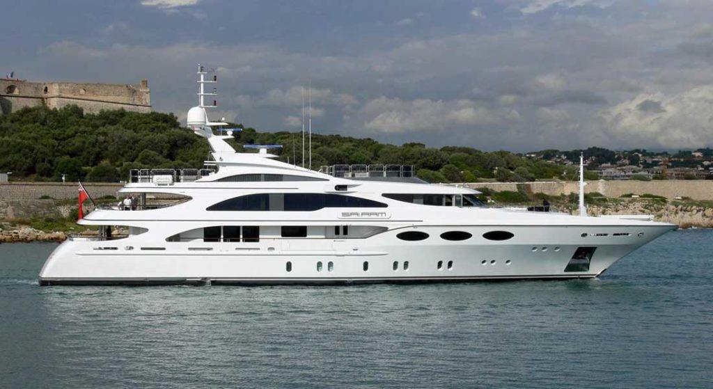 ex Sai Ram now megayacht Falcon refit at Bilgin Yachts