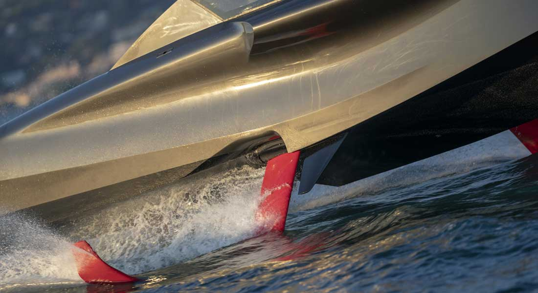 Foiler superyacht toy