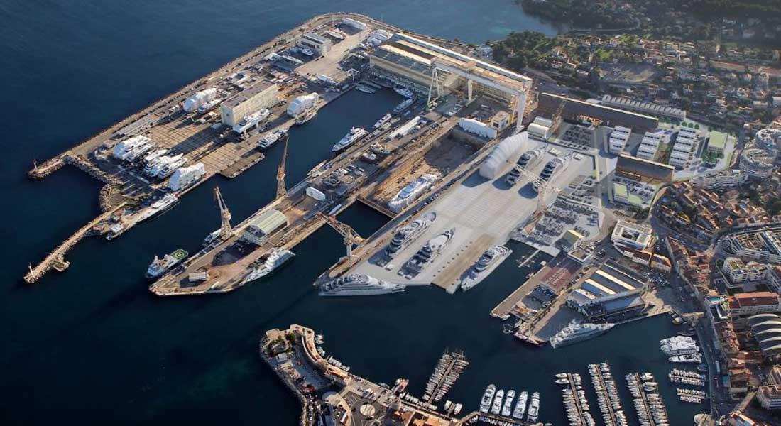 MB92 La Ciotat superyacht refit area with proposed ship lift