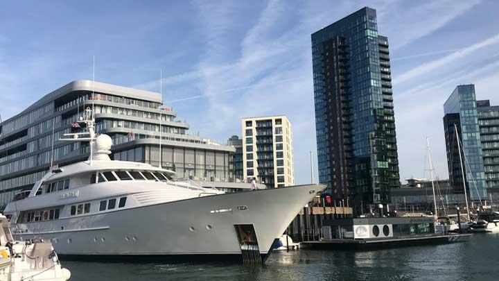 Ocean Village Marina in Southampton for megayachts