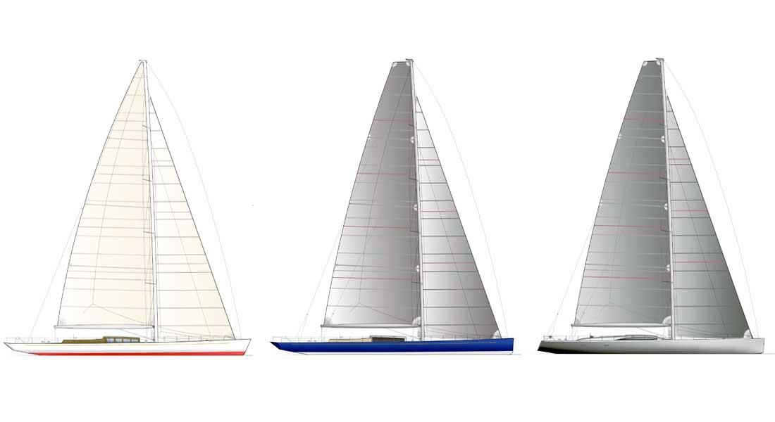 Pura sailing superyacht sail plan examples