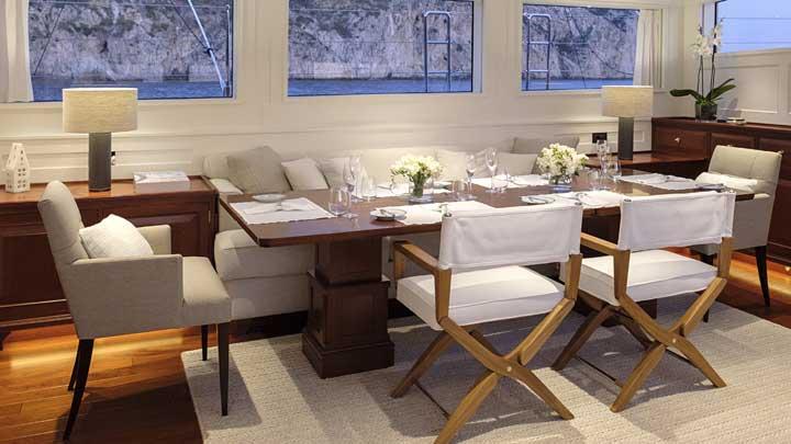 Pura sailing superyacht classic interior