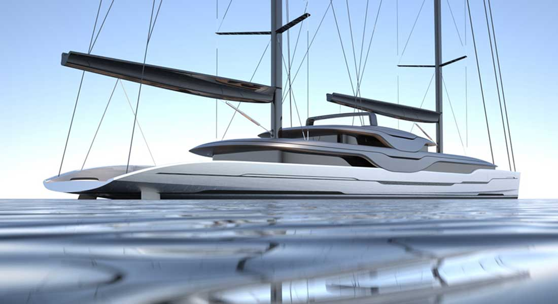 Ripple sailing superyacht