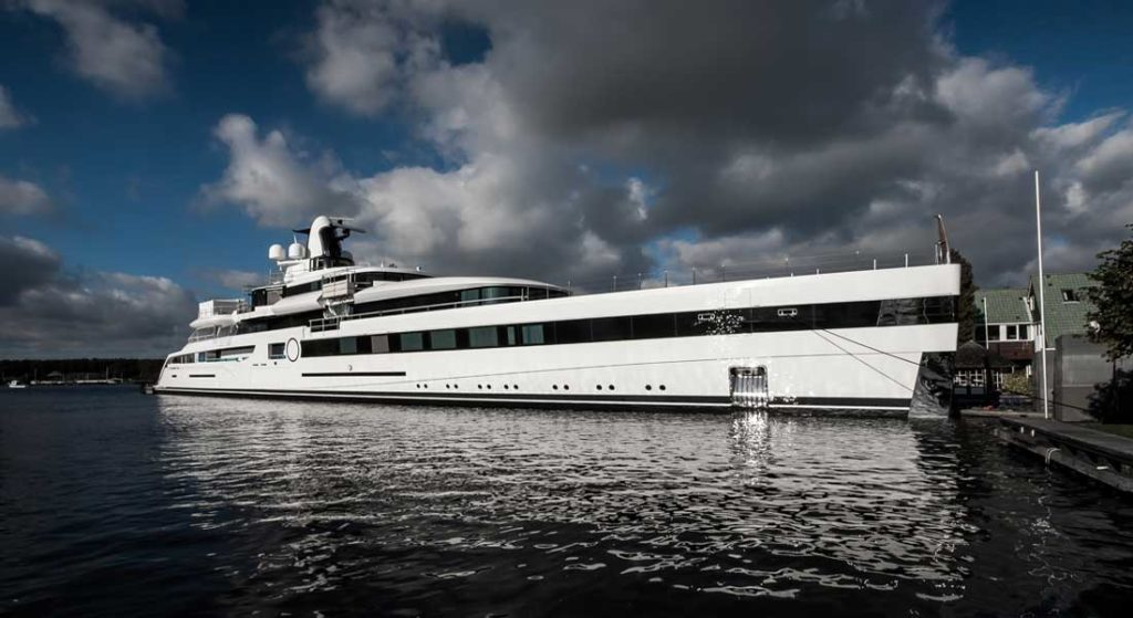 Feadship Lady S Project 814 superyachts belonging to NFL team owners