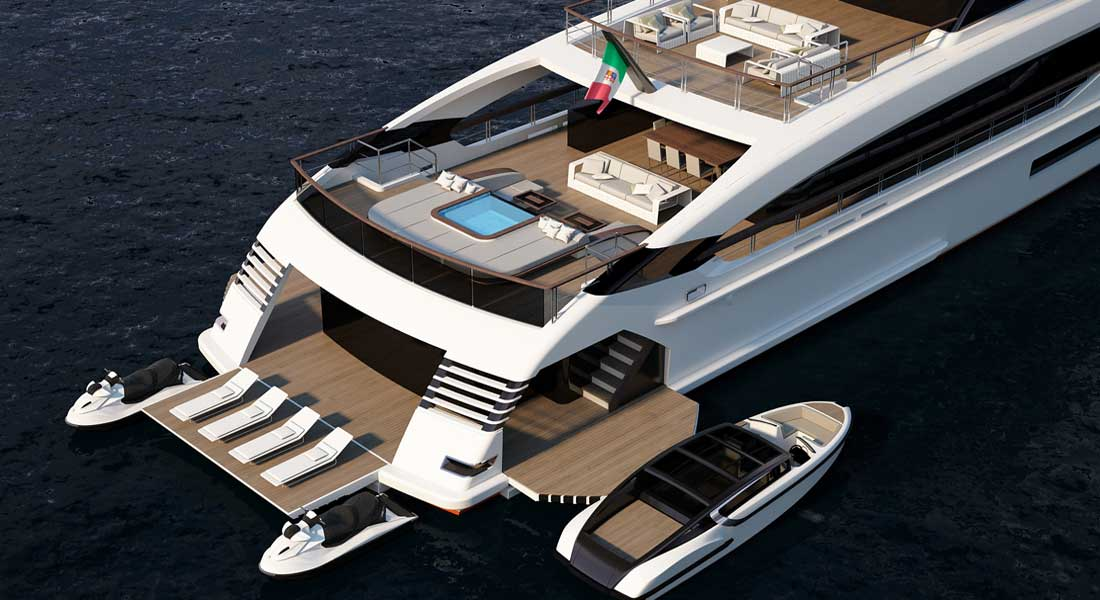 Rossinavi Blue Runner 49 megayacht