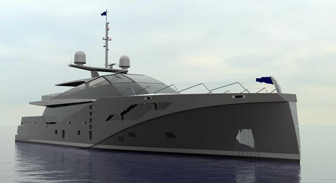 Peter Bolke Design Stealth 46M ARV megayacht