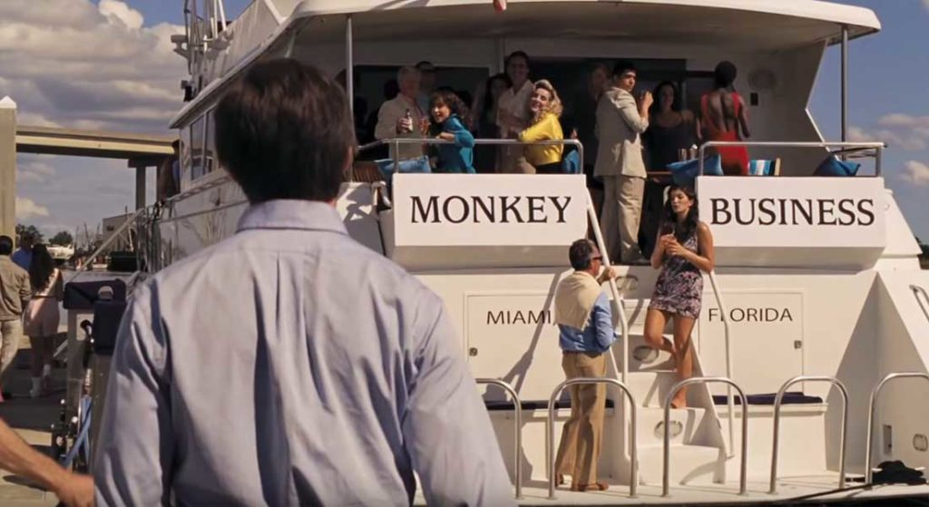 Monkey Business megayacht The Front Runner movie
