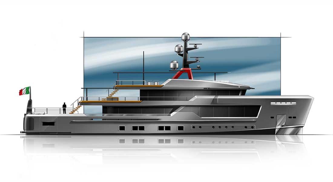 CRN megayacht AlfaRosso concept