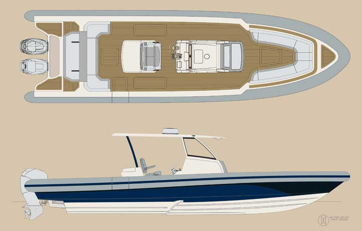 Ocean 1 rebel 330 megayacht tender